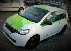 SKODA Citigo Green Style Wrapping Folierung Dekor