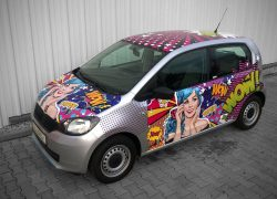 SKODA Citigo Pop Art Wrapping Folierung